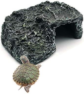 HAHASG Acuario Plataforma de Escalada de Tortugas Tanque de Peces Resina Escalera de Roca Tortuga Piedra Anfibios Cueva Reptil Tomar el Sol Isla Decoración: Amazon.es: Hogar