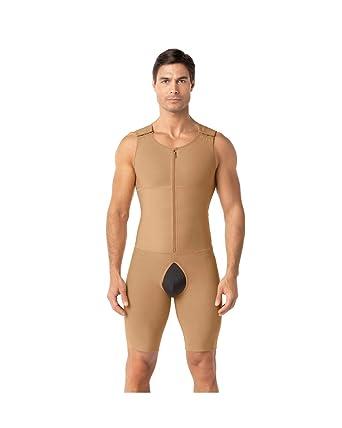 440de95e9 Amazon.com  Leo Men s Post-Surgical and Slimming Firm Compression Bodysuit  Shaper  Clothing