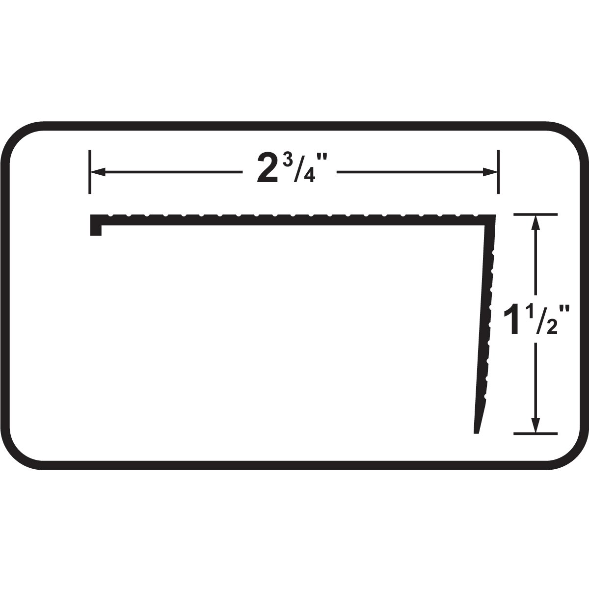 White M-D Building Products 77883 2-3//4-Inch by 1-1//2-Inch by 36-Inch TH026 Sill Nosing