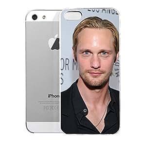 iPhone 5S Case AlexandarSkarsgfd Alexander Skarsgard 179121 20th Century Swedish Male Actors Hard Plastic Cover for iPhone 5 Case