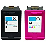 HouseOfToners Remanufactured Ink Cartridge Replacement for HP 61 ( Black , 2-Pack )