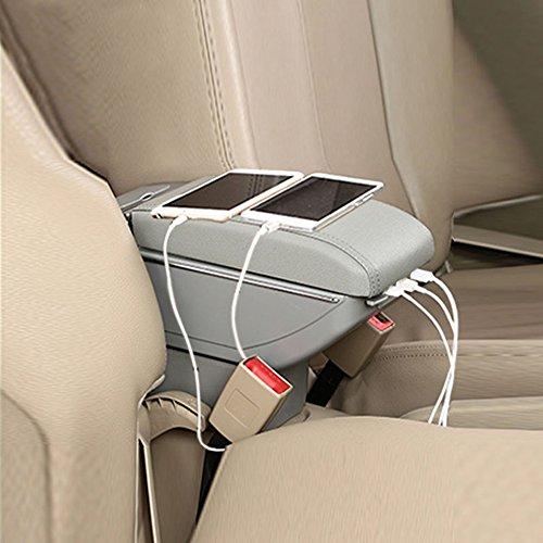 Reposabrazos para consola central de coche con 7 puertos USB inteligentes para Ford Fiesta 3 MK7 reposabrazos caja de...
