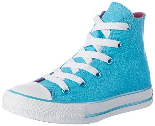 Converse Unisex-Kinder All Star Hohe Sneaker Mehrfarbig (Fresh Cyan/Magenta Glow/White)