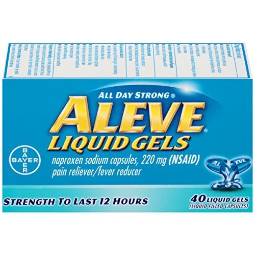 Aleve Liquid Gels, 40 Count - Buy Packs and Save (Pack of 2)