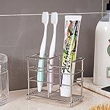 #8: Smilesun Stainless Steel Bathroom Toothbrush Holder Toothpaste Holder