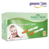 Easy@Home 20-pack hCG Pregnancy Midstream Tests, Powered by Premom Ovulation Predictor iOS and Android APP, 20 hCG Tests