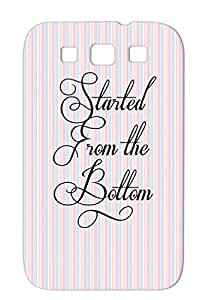 Shockproof TPU Black Music Rap Song Hip Hop Started From The Bottom New Grind Quotes Started Music Hustle For Sumsang Galaxy S3 Case
