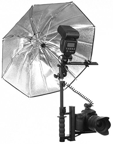 Alzo Ultra Flip Flash Bracket Umbrella Kit for Nikon (Black)- Achieve Studio Quality Images with Your Portable Flash Nikon Speedlight by ALZO Digital