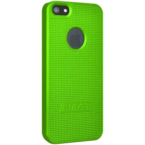 Amzer Hartschale für iPhone5, zum Aufstecken, Neongrün
