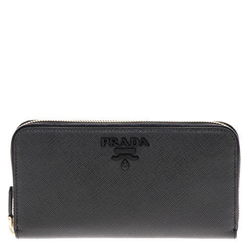 Prada Women's Saffiano Leather Wallet Black