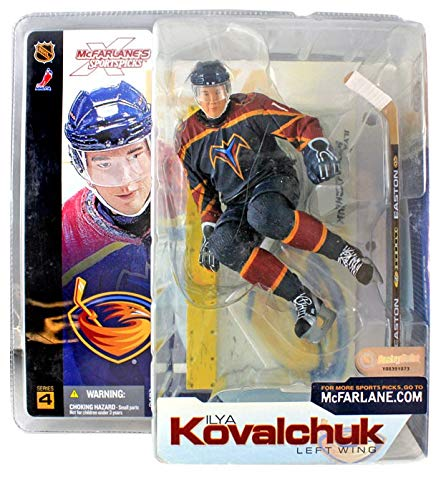 100% a estrenar con calidad original. McFarlane NHL deportes Púas Púas Púas serie 4 Ilya Kovalchuk (Atlanta Thrashers) azul Jersey figura de acción  más orden