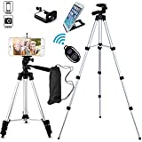 FoAnt Aluminum Professional Lightweight Camera Tripod for iPhone, Cellphone,Gopro Hero,Digital SLR DSLR Video Cameras with Cellphone Holder Clip and Remote Shutter-43
