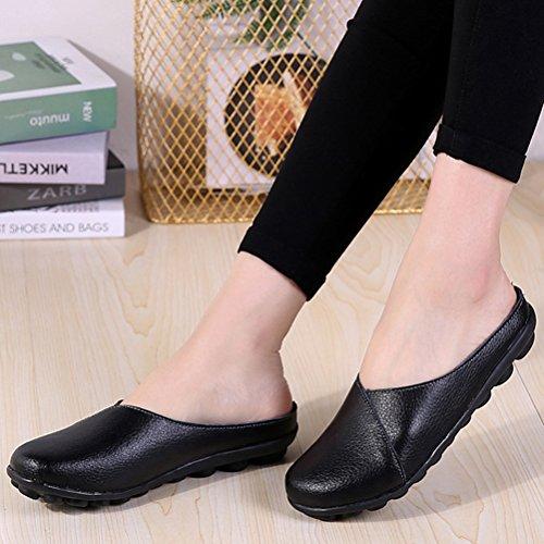 En Cuir Sandales Style 42 34 Chaussons Pantoufles Femmes EU Style2 Babouche MatchLife chaussures noir ZARA qpT1aU