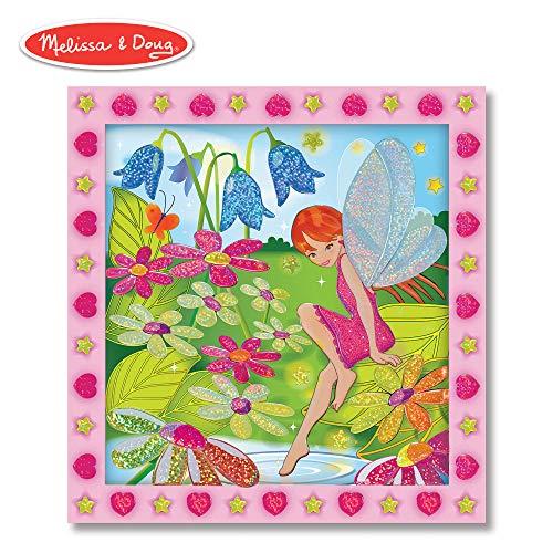 Melissa & Doug Peel and Press Sticker by Number Activity Kit: Flower Garden Fairy (Fairy Fantasy Crafts)