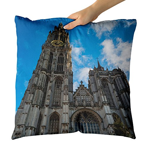 Westlake Art - Catholic Cathedral - Decorative Throw Pillow Cushion - Picture Photography Artwork Home Decor Living Room - 18x18 Inch (14FF9) by Westlake Art