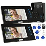 "Docooler 7"" Wired Video Door Phone System Record/Snapshot Visual Intercom Doorbell with 2800x480 Indoor Monitor + 11000TVL Outdoor Camera + 28G TF Card + 5ID Card + 1Remote Control"