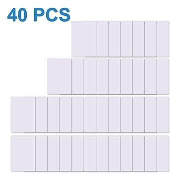 TimesKey 40 x NFC Tags NTAG215 Tarjetas NFC Etiquetas 504 Bytes Memoria NXP Ntag215 Chip de PVC Blanco Puede Hacer Que Amiibo TagMo NFC Cards