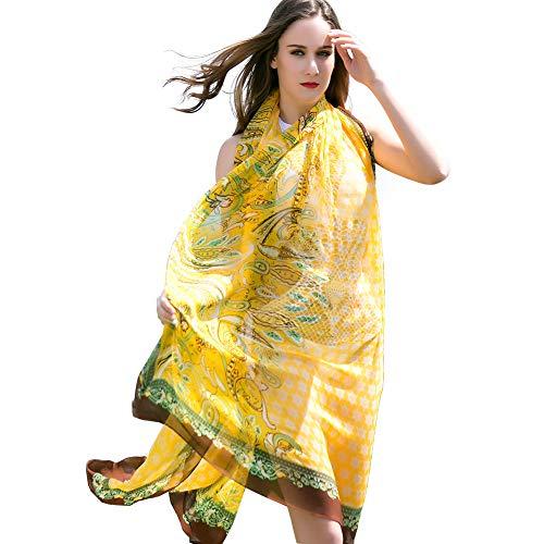 DANA XU 100% Pure Silk Large Size Pashmina Women Scarf ()
