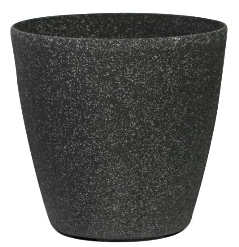 stone-light-sl-series-cast-stone-round-planter-14-inch-aged-black-sandstone-6-pack