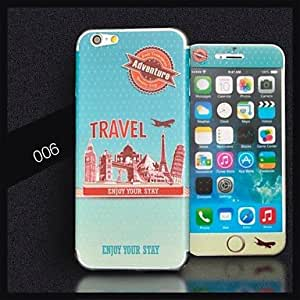 "Jia AIKUSUTravel Series Pattern Vinyl Skin Sticker for iPhone 6 4.7"""