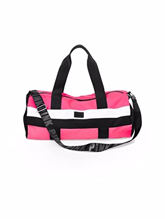 7c5c1baff9b3 Image Unavailable. Image not available for. Color  Victoria s Secret Hot  Neon Pink Gym Duffle