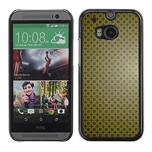 Paccase / SLIM PC / Aliminium Casa Carcasa Funda Case Cover - Simple Pattern 9 - HTC One M8