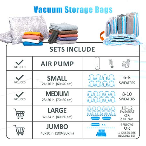 Duvets VMSTR Vacuum Storage Bags with USB Electric Pump Mattress Pillows Blanket Reusable Vacuum Compression Space Saver Bags for Clothes