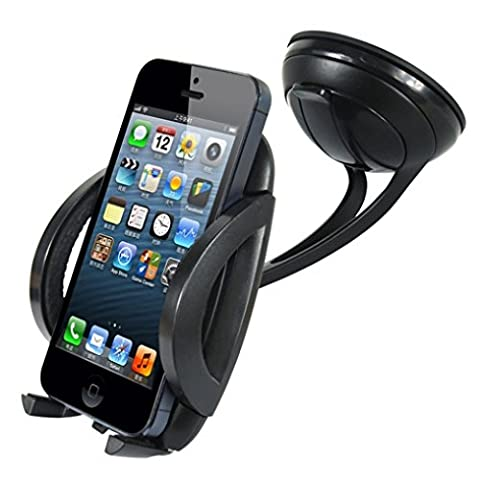 Heavy Duty Easy Mount Car Holder Dash Windshield Dock for AT&T Kyocera DuraForce XD - AT&T LG Escape 2 - AT&T LG G Flex - AT&T LG G Flex - Safe T Ii Steering