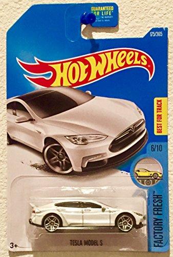 Hot Wheels 2017 Factory Fresh Tesla Model S 175/365, White, Gray