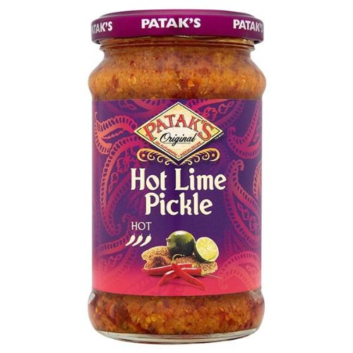 Pataks Lime Pickle Hot 3 x 283gm