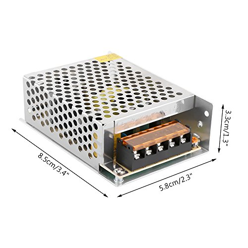 ALLOMN 110V/220V AC to DC 5V 10A 50W Switch Power Supply Driver, Power Transformer for CCTV Camera, Security System, LED Strip Light, Radio, and Computer by ALLOMN (Image #5)