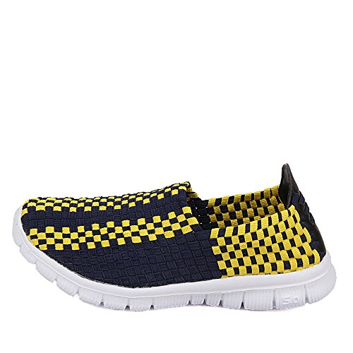 Yellow Slip Women 903 FZDX Handmade Fashion Woven Comfort Walking Lightweight On Shoes Sneakers Shoes d71twqf1