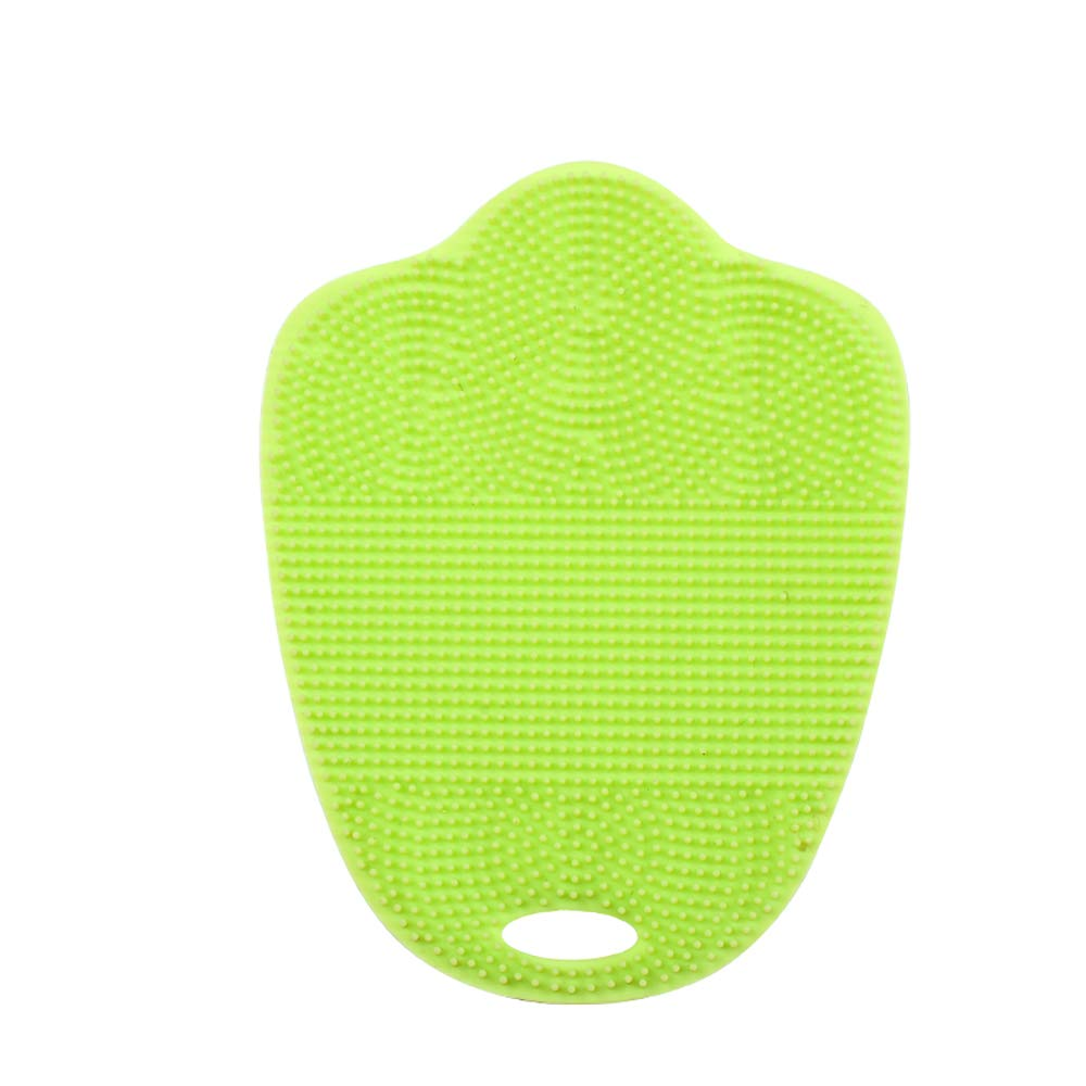Silicone Baby Bath Brushes and Remover Brush (green)