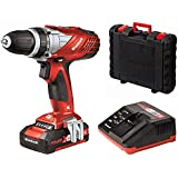 Einhell Perceuse visseuse sans fil TE-CD 18 Li Power X-Change (Li-lon, 18 V,1500 mAh, 2 vitesses,  48 Nm,Mandrin 10mm, Eclairage LED, Livré en coffret avec batterie 1.5 Ah et chargeur)