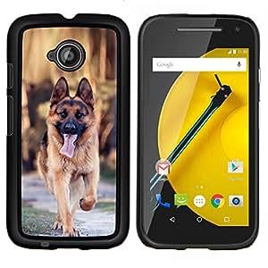 EJOOY---Cubierta de la caja de protección para la piel dura ** Motorola Moto E2 E2nd Gen ** --Majestic perro Shpeard alemán