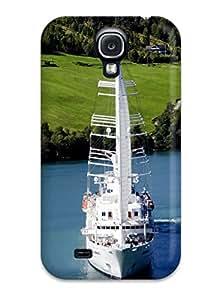 Albert R. McDonough's Shop Galaxy S4 Case Cover - Slim Fit Tpu Protector Shock Absorbent Case (sailing Ship) 3293322K69453030