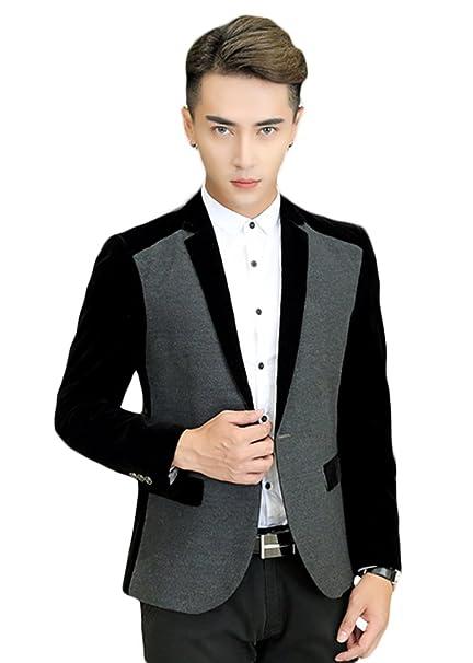 Insun Hombre Blazer Chaqueta Slim Para Hombre Estilo Casual Con Uno Botones: Amazon.es: Ropa y accesorios