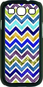 Watercolor Chevron- Case for the Samsung Galaxy S3 i9300 -Hard Black Plastic Case