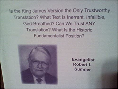 Book Bible translations: Is the King James Version the only trustworthy translation? What text is inerrant, infallible, God-breathed? Can we trust any ... What is the historic fundamentalist position?