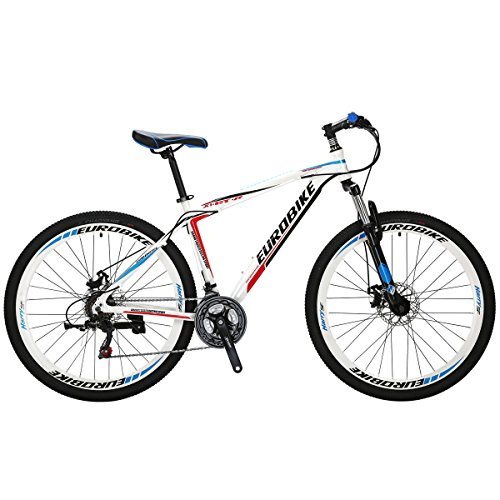 EUROBIKE-Mountain-Bike-GTR-275-21Speed-Dual-Disc-Brake-Aluminum-Bicycle