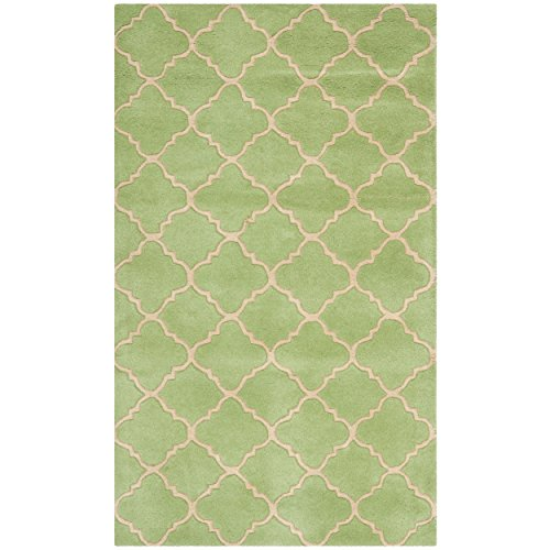 Safavieh Chatham Collection CHT935B Handmade Green Premium Wool Area Rug 3 x 5