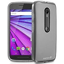 Fosmon Motorola Moto G (3rd Gen, 2015) (DURA-FRO) Slim-Fit Flexible TPU Gel Case Cover for Motorola Moto G (3rd Gen, 2015) (Clear)
