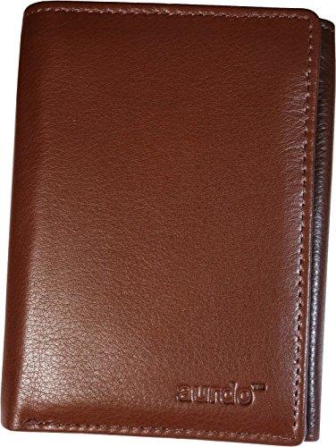AurDo Men's RFID Blocking Extra Capacity Multi Card Trifold Wallet With ID Window ()