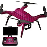 MightySkins Protective Vinyl Skin Decal for 3DR Solo Drone Quadcopter wrap cover sticker skins Pink Carbon Fiber