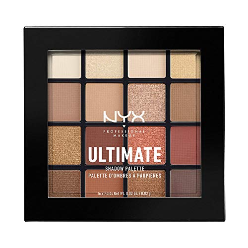 NYX PROFESSIONAL MAKEUP Ultimate Shadow Palette, Eyeshadow Palette, Warm Neutrals,1 Count (Best Warm Eyeshadow Palette)