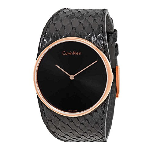 Calvin Klein K5V236C1 Ladies Spellbound Black Leather Strap Watch (Women Watches Klein Calvin)