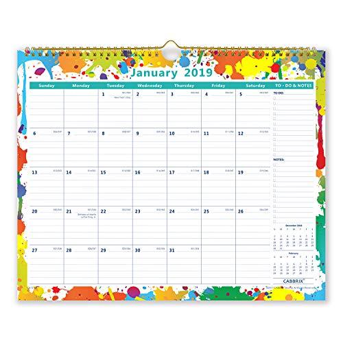 Cabbrix 2019 Monthly Wall Calendar, 15