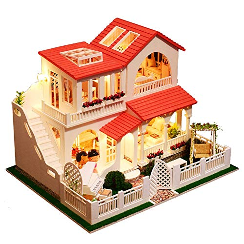 PSFS Mini DIY Doll House Assemble Miniature Dollhouse,LED for sale  Delivered anywhere in USA