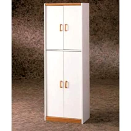 Amazon Com 72 Kitchen Pantry Cabinet White Finish Pantry 4 Door