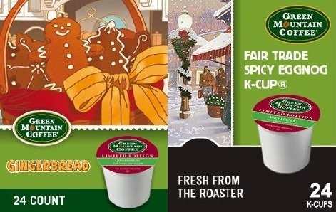 Green Mountain Gingerbread and Spicy Eggnog Limited Holiday Edition K-Cups (Keurig Gingerbread Coffee compare prices)
